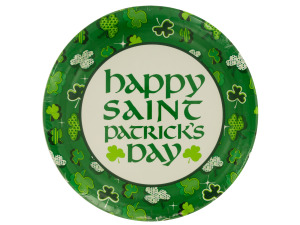 Shamrock Party Round Plates Set