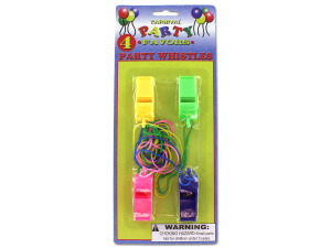 Whistle party favors