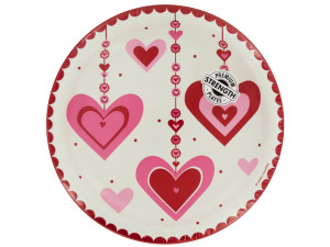 Heart Dazzler Round Dinner Plates Set