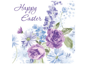 Happy Easter Lilacs Lunch Napkins