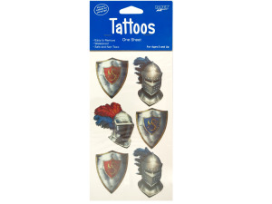 Valiant Knight Temporary Tattoos