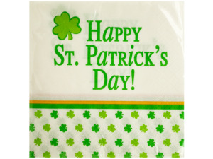 Happy St. Patrick's Day Beverage Napkins