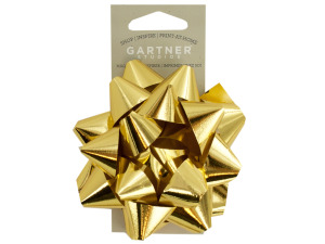 Gold Star Self-Adhesive Gift Bow