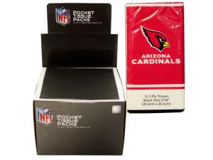 Arizona Cardinals Pocket Tissues Countertop Display