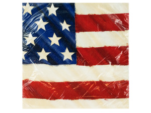 Rustic Flag Lunch Napkins