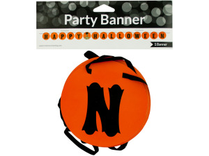 Happy Halloween Party Banner with Skeleton