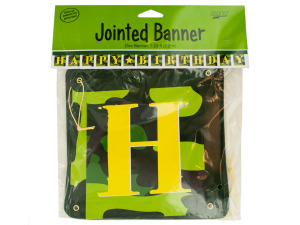 Camouflage Gear Happy Birthday Party Banner