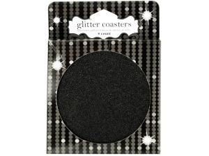 Black Glitz Glitter Coasters