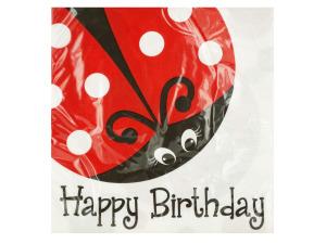 Little Ladybug Happy Birthday Napkins