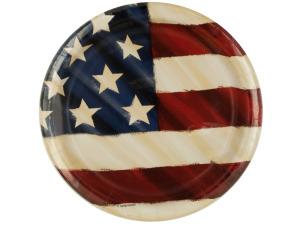 Rustic Flag Patriotic Party Plates
