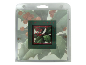 Holiday holly framed print