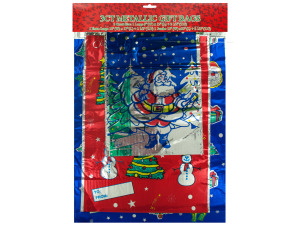 3 count metallic gift xmas bags
