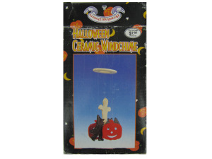 Ceramic Halloween wind chime