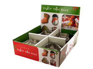 Christmas Mini Baking Tins Counter Top Display
