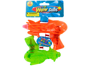 2 pack mini plastic water guns