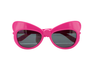 Hot Pink Bow Sunglasses