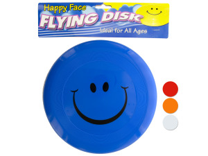 Smiley face flying disk