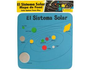 Spanish Solar System Foam Map
