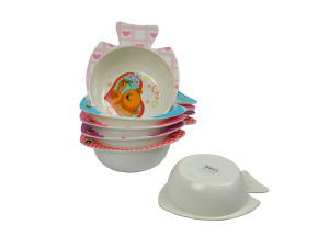 Melamine assorted bright kid's bowls