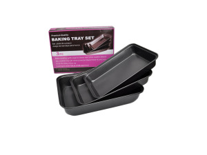 Baking trays, set of 3