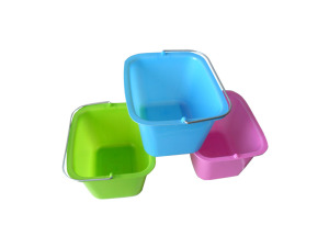 Rectangle tub with handles, assorted colors