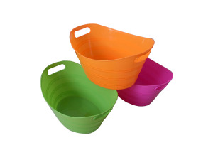 Plastic storage bucket, assorted colors