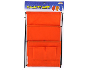 Three pocket magazine rack