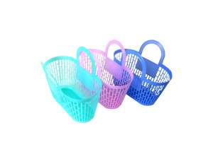 Plastic storage basket in pastel colors