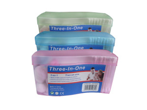 3-in-1 cotton swabs, pack of 120