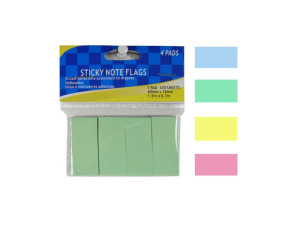 Sticky note flags, 4 pads in one color