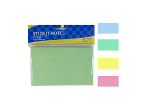 Large-size sticky notes, one pad, assorted colors