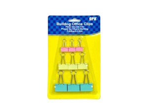 Bulldog clips, pack of 9