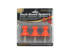 Deck board spacers, pack of 3