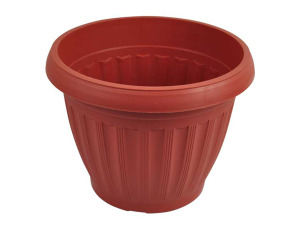 Clay-look flower pot