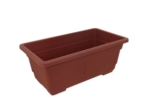 Rectangular plastic flower pot
