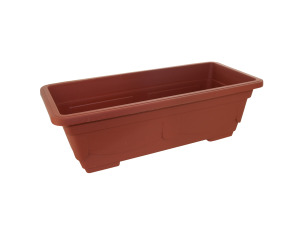 Rectangular clay-look plastic pot