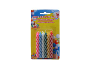 Jumbo birthday candles, pack of 12