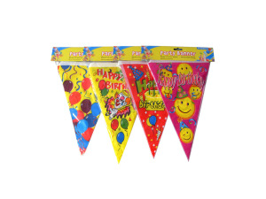 Bright birthday banner, four designs