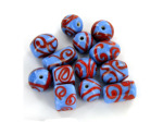 Blue & Red Swirly Bead Mix