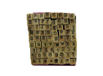 72 Pc. Alphabet Stamp Sets