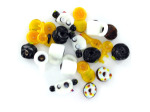 Policeman Lampwork Glass Bead Mix