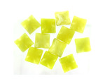 10MM Faceted Olive Jade Sq Stone Bds