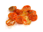Orange & Clear Open Flower Glass Bead Mix