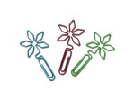 6 Flower-Shaped Paper Clips