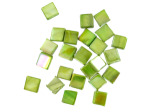 8MM Green Sq Fw Shell Beads