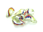 Multi Colored Top Drilled Teardrop Beads