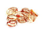 15MM Red Swirl Glass Disc Bead