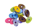 32MM Oval Lg Holed Fq Shell Bead Mix