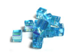 Ab Aqua Cut Glass Crystal Cubes (8MM)