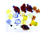 Love To Knit Lampwork Glass Bead Mix